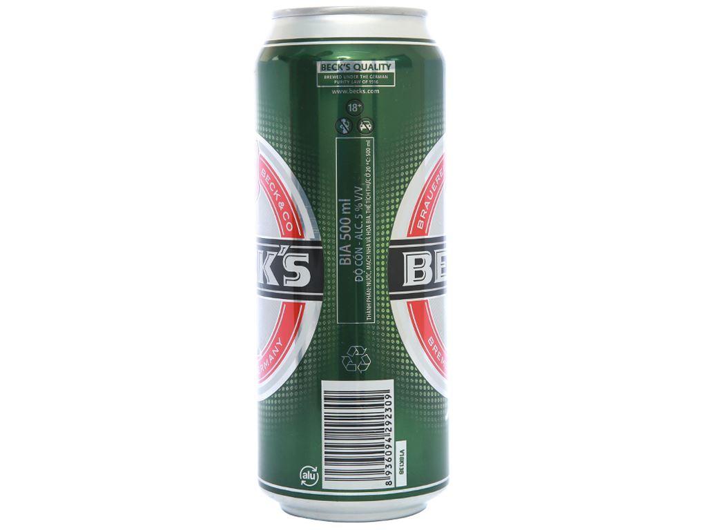 Thùng 12 lon bia Beck's 500ml 4