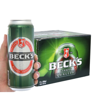 Thùng 12 lon bia Beck's 500ml