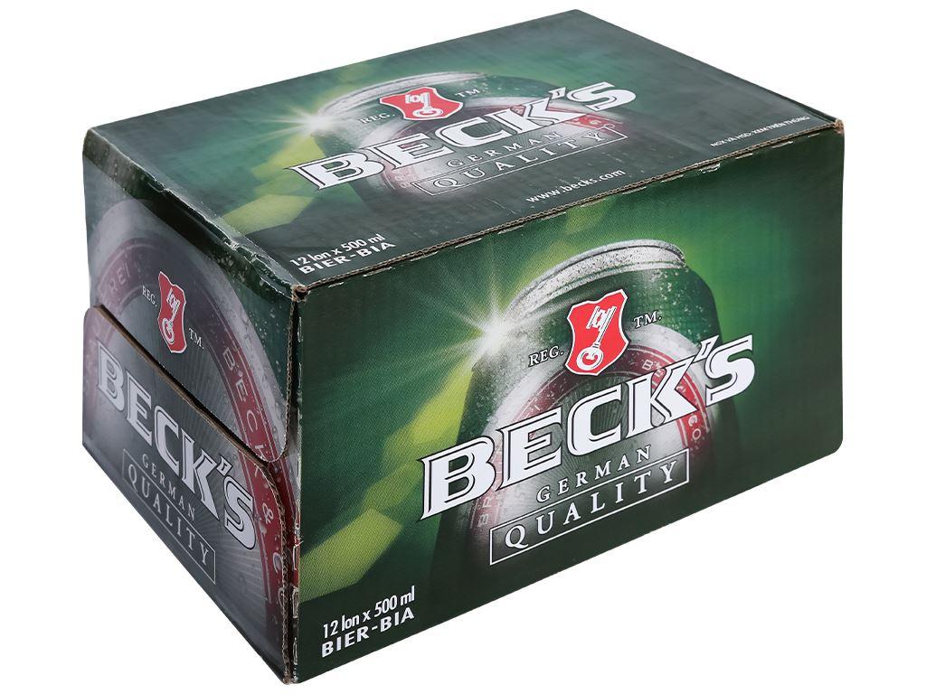 Thùng 12 lon bia Beck's 500ml 1