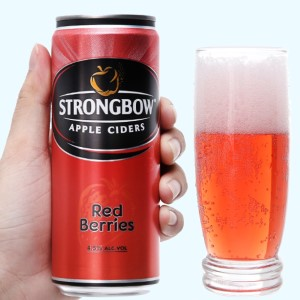 Strongbow dâu lon 330ml