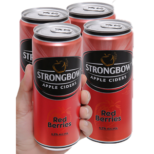 4 lon Strongbow dâu 330ml