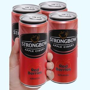 4 lon Strongbow dâu 330ml