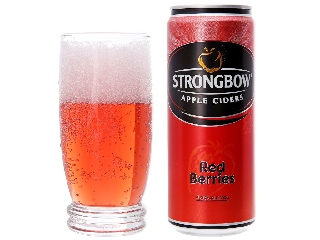 4 lon Strongbow dâu 330ml 6