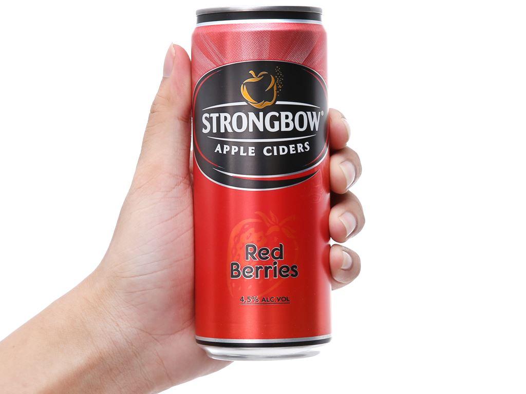 Thùng 24 lon Strongbow dâu 330ml 5