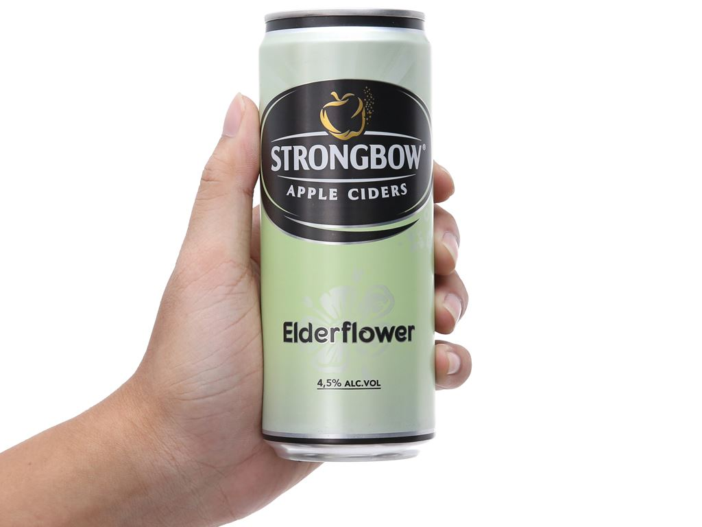 Strongbow hoa Elder lon 330ml 4