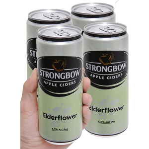 4 lon Strongbow hoa Elder 330ml