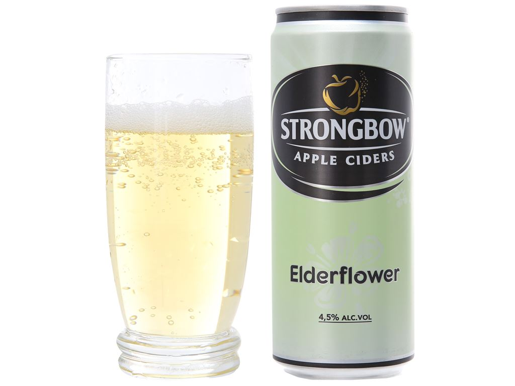 4 lon Strongbow hoa Elder 330ml 6