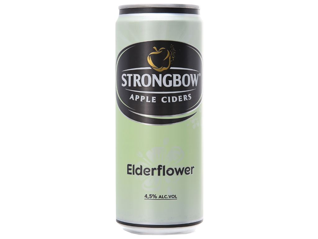 Thùng 24 lon Strongbow hoa Elder 330ml 2