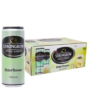 Thùng 24 lon Strongbow Hoa Elder 330ml