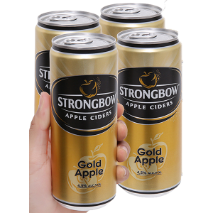 4 lon Strongbow táo 330ml