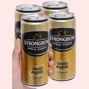4 lon Strongbow táo 330ml