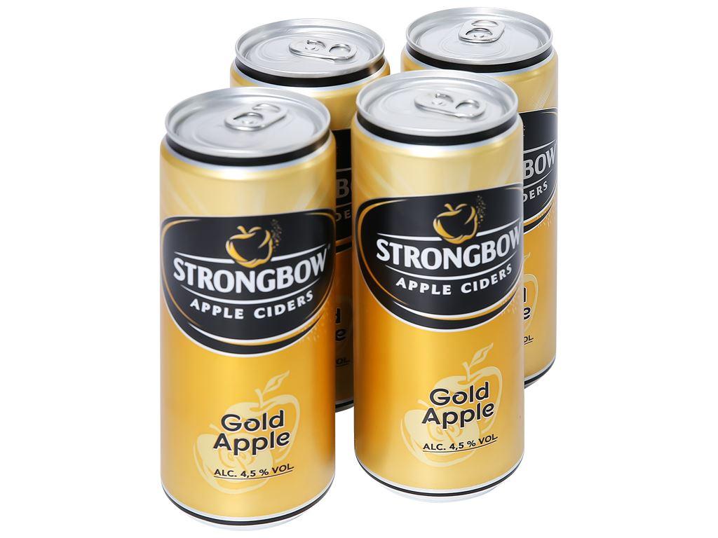 4 lon Strongbow táo 330ml 1