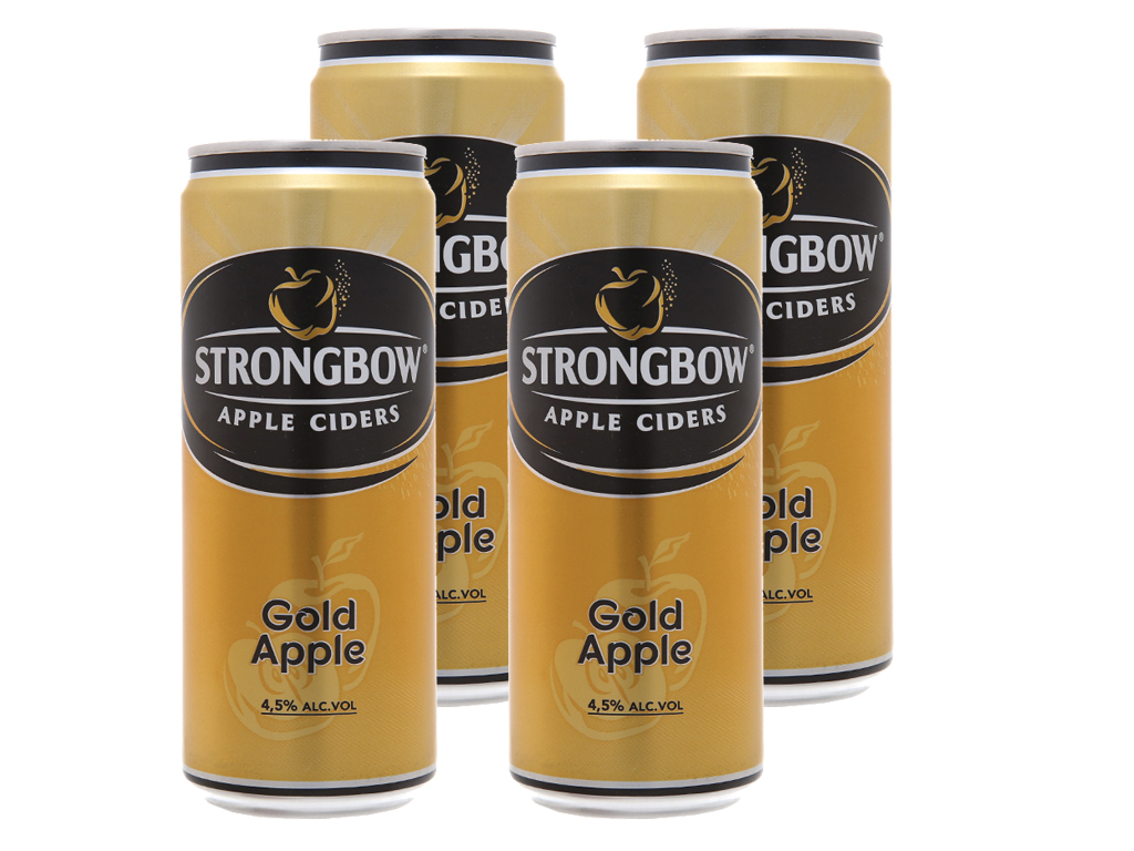 4 lon Strongbow táo 330ml 1