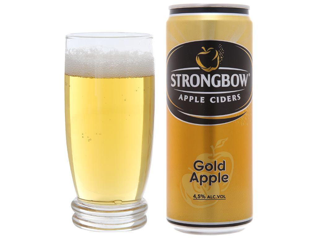 Thùng 24 lon Strongbow táo 330ml 6