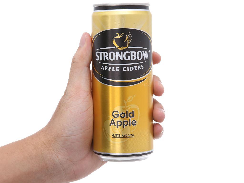 Thùng 24 lon Strongbow táo 330ml 5