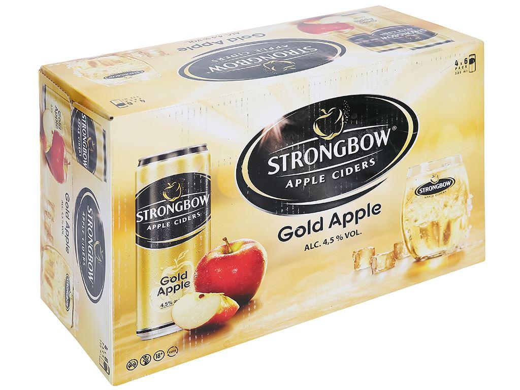 Thùng 24 lon Strongbow táo 330ml 1