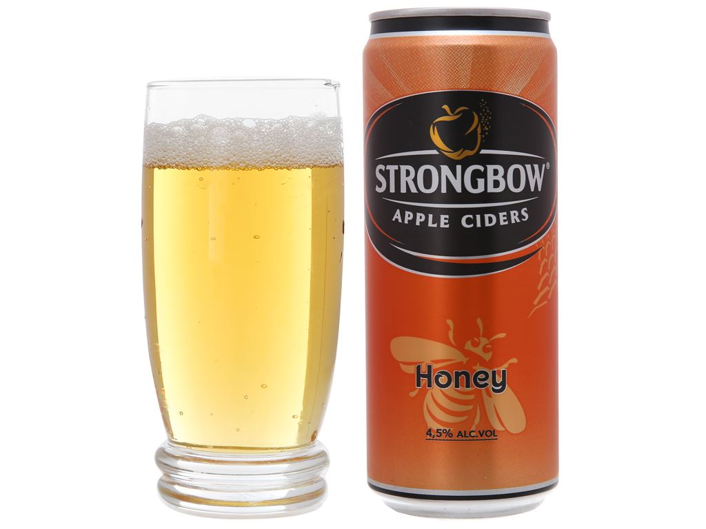 Strongbow mật ong lon 330ml 3
