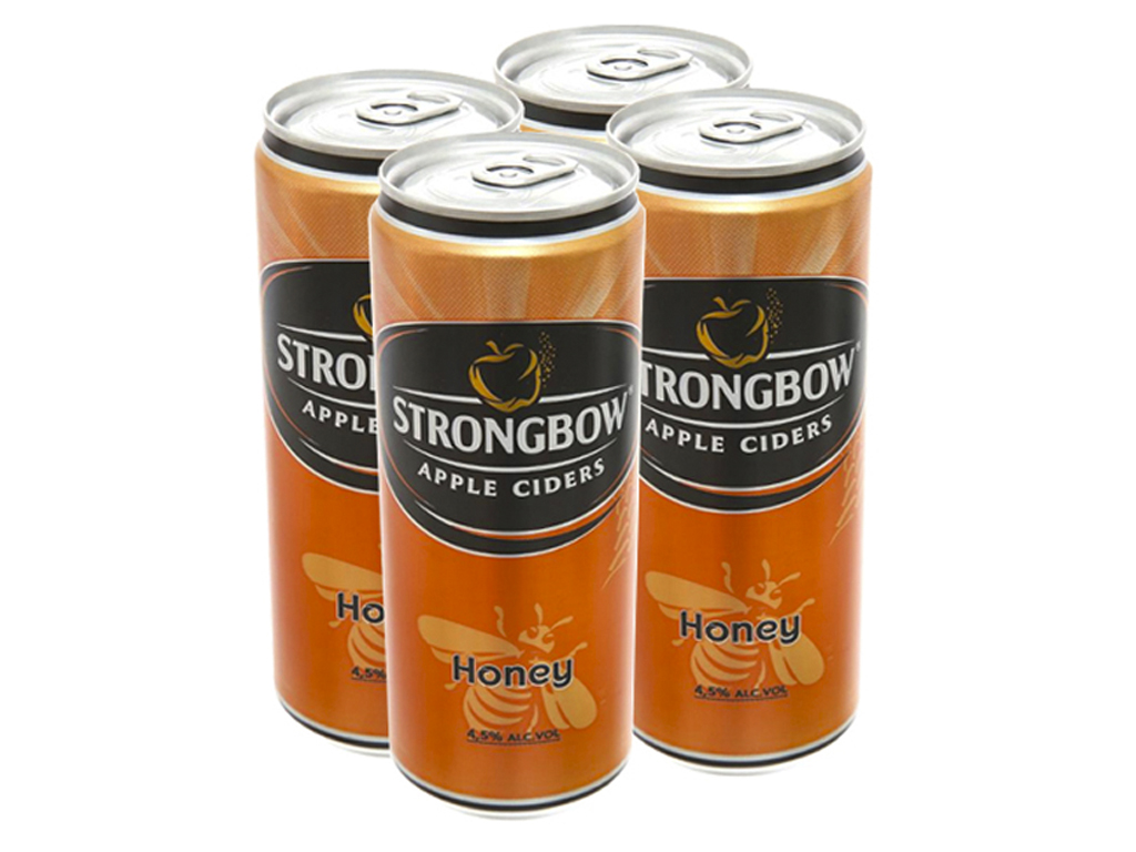 4 lon Strongbow mật ong 330ml 1