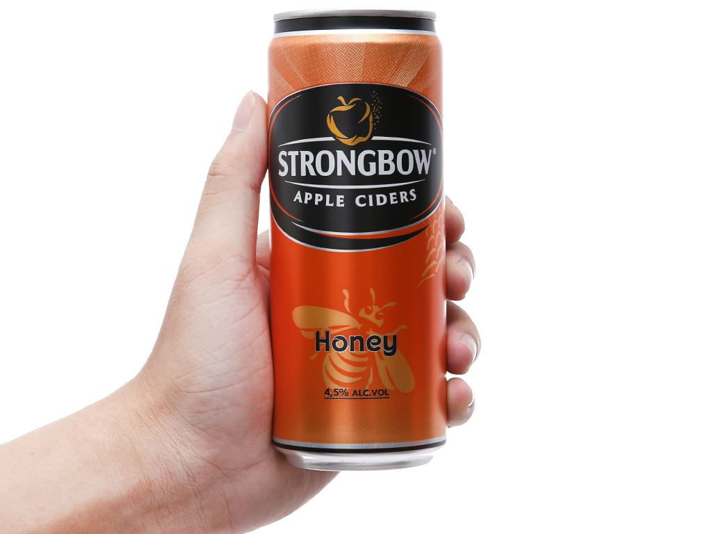 4 lon Strongbow mật ong 330ml 5