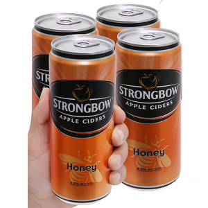 4 lon Strongbow mật ong 330ml