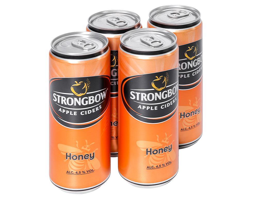 4 lon Strongbow mật ong 330ml 1