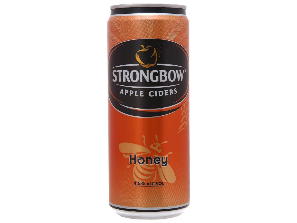 Thùng 24 lon Strongbow mật ong 330ml 2