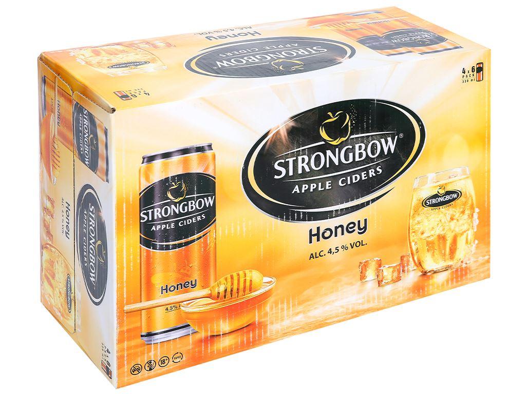 Thùng 24 lon Strongbow mật ong 330ml 1