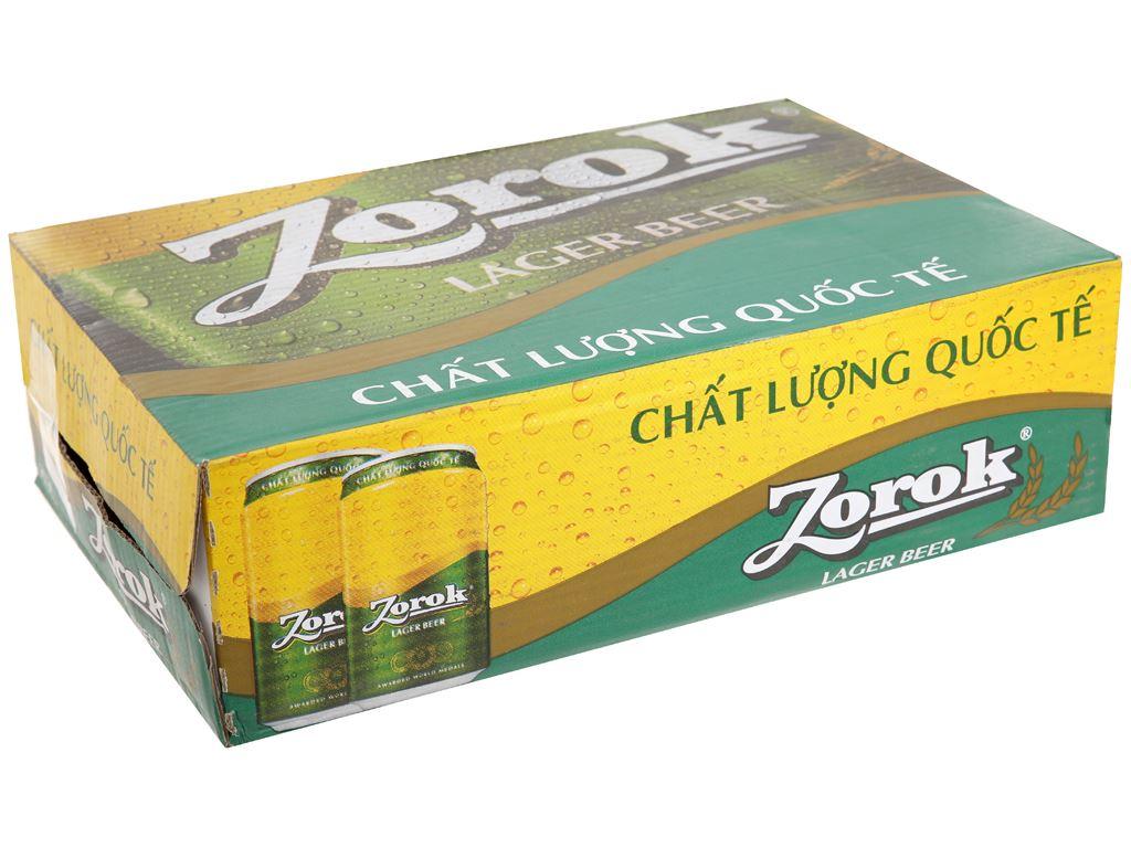 Thùng 24 lon bia Zorok 330ml 1