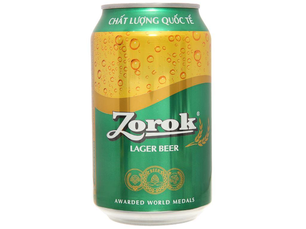 Thùng 24 lon bia Zorok 330ml 2