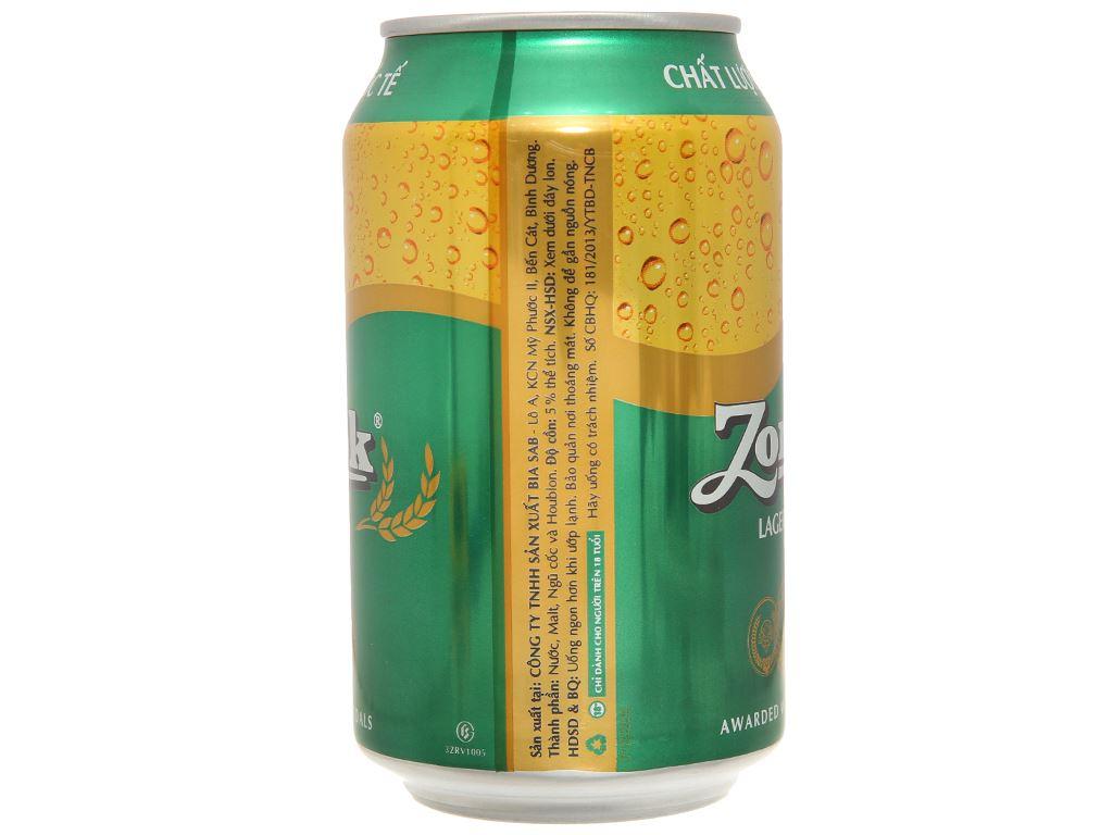 Thùng 24 lon bia Zorok 330ml 3