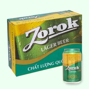 Thùng 24 lon bia Zorok 330ml