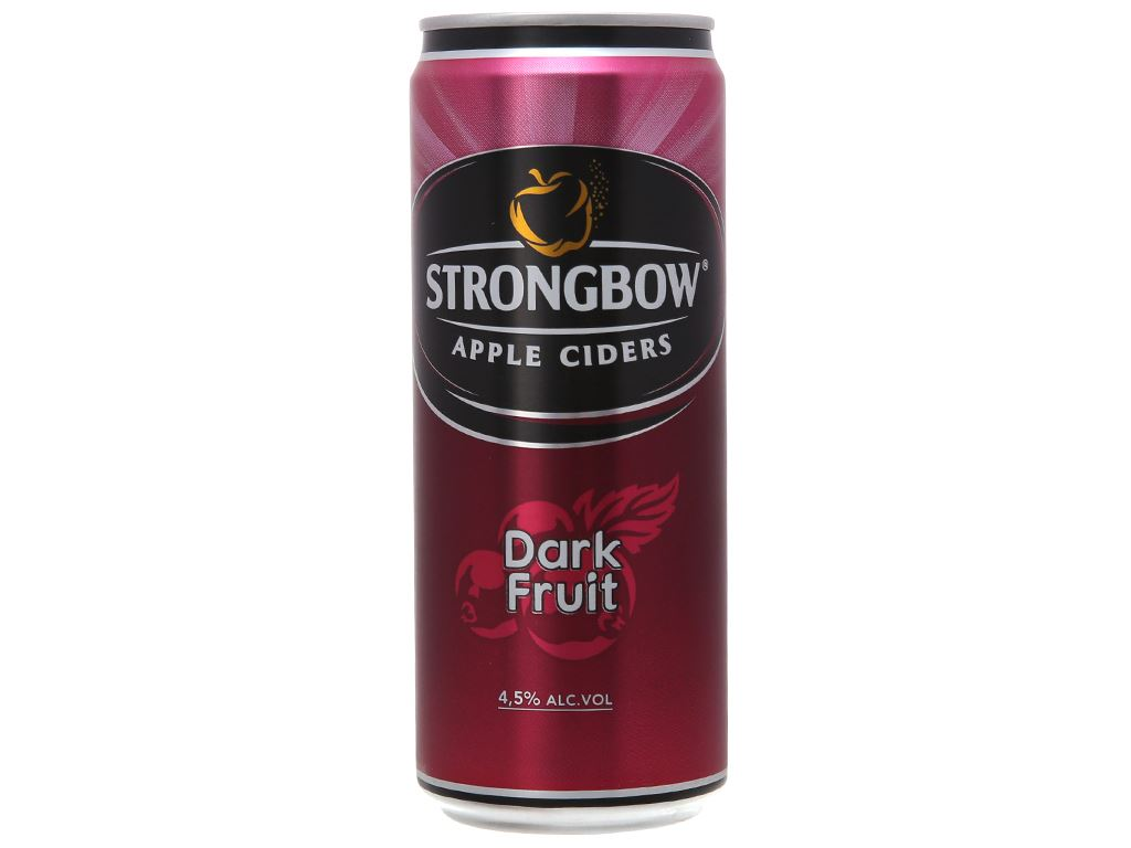 Strongbow dâu đen lon 330ml 1