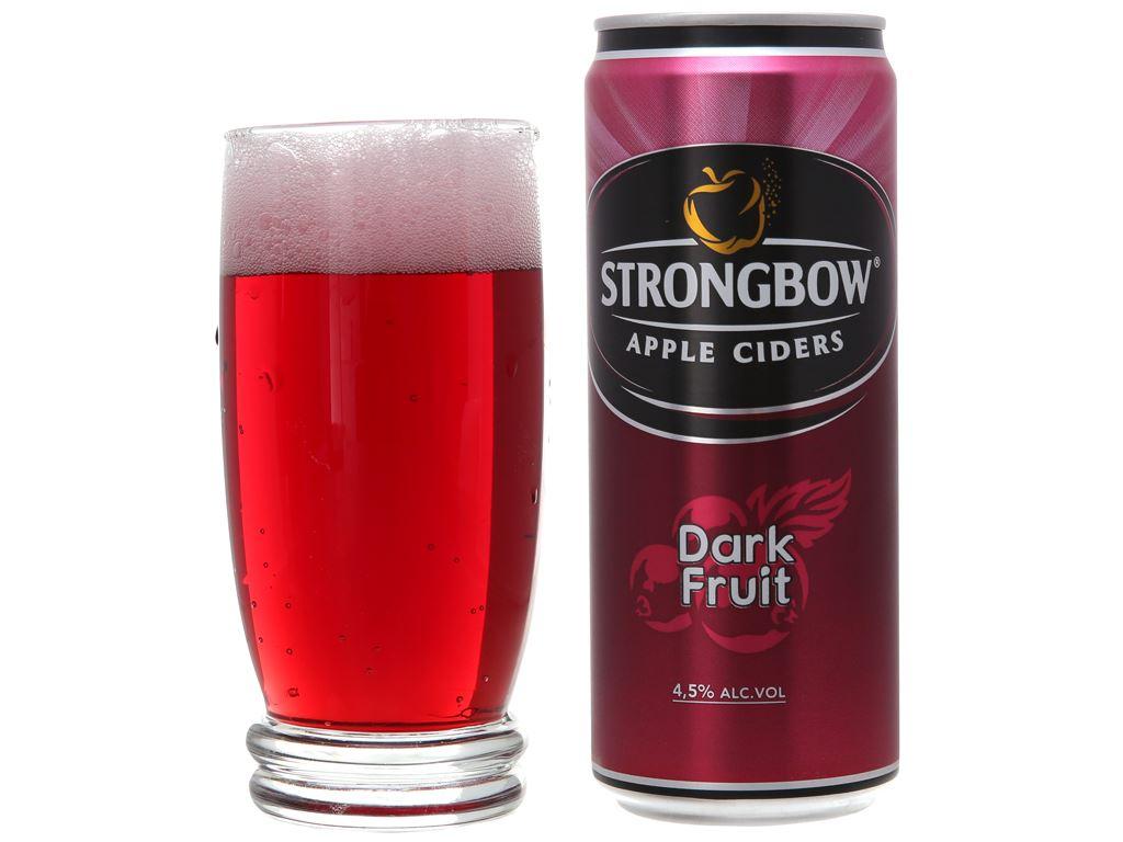 Strongbow dâu đen lon 330ml 5