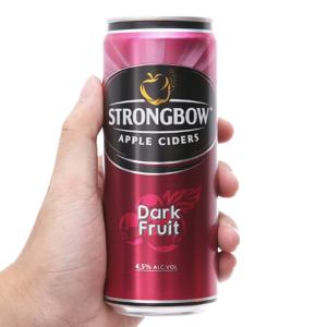 Strongbow dâu đen lon 330ml