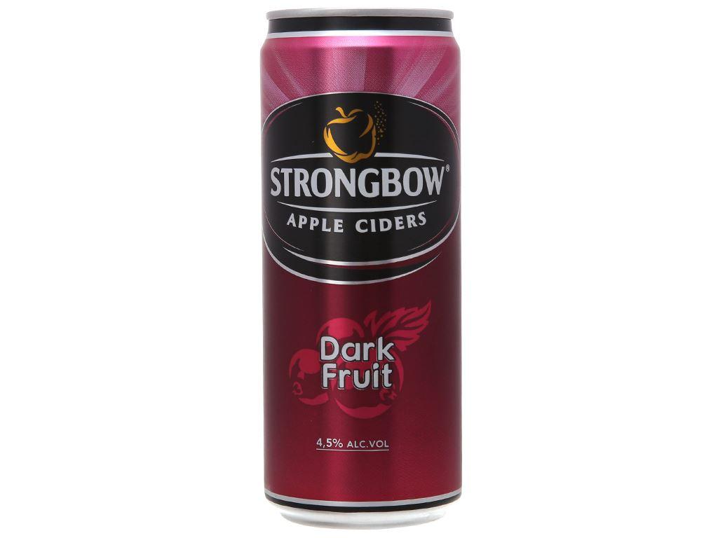 Thùng 24 lon Strongbow Dâu đen 330ml 1