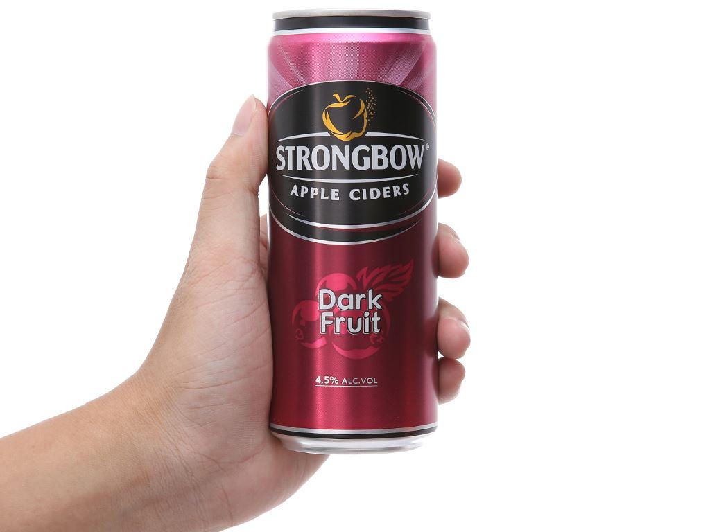 Thùng 24 lon Strongbow dâu đen 330ml 5