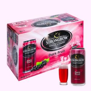 Thùng 24 lon Strongbow dâu đen 330ml