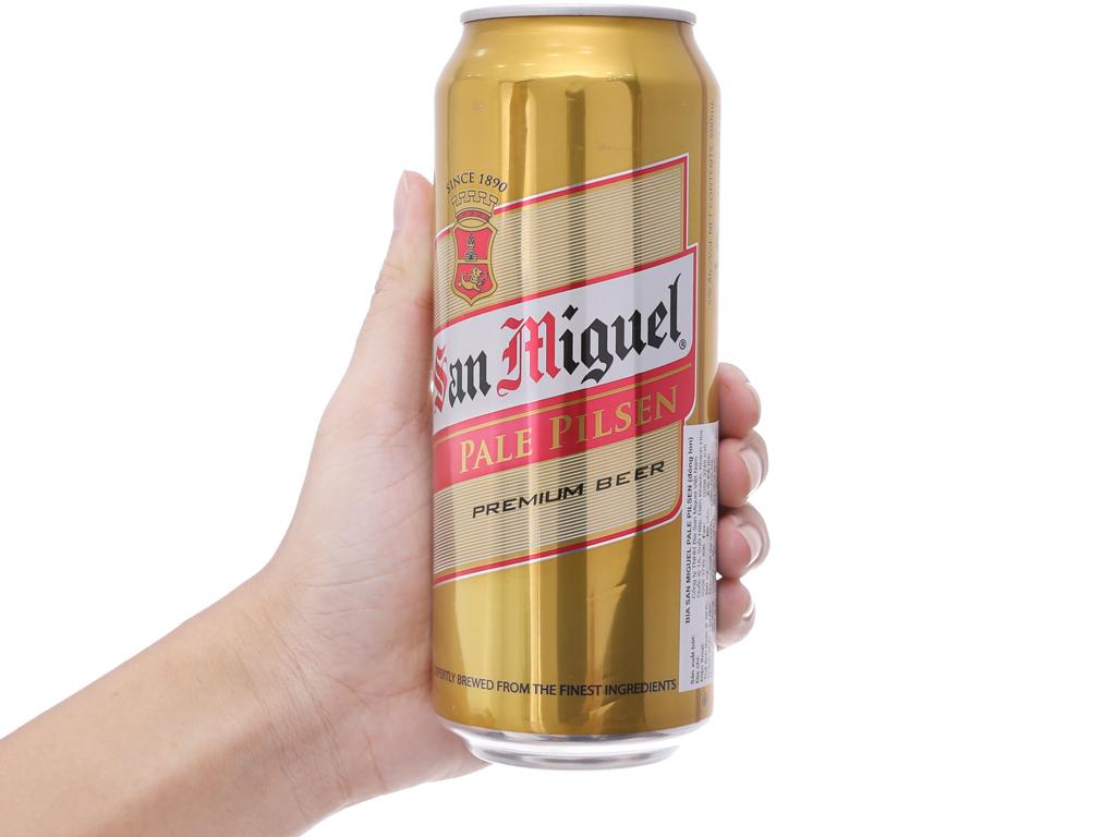 Thùng 12 lon bia San Miguel Pale Pilsen 500ml 5