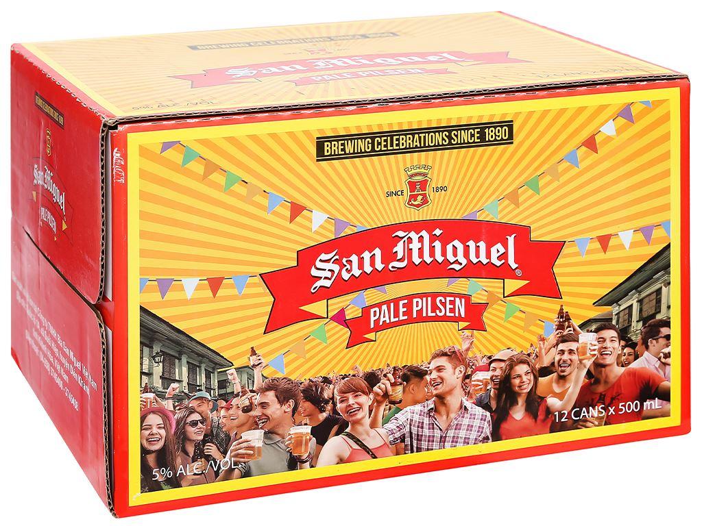 Thùng 12 lon bia San Miguel Pale Pilsen 500ml 4