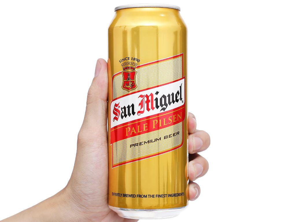 Thùng 12 lon bia San Miguel Pale Pilsen 500ml 9