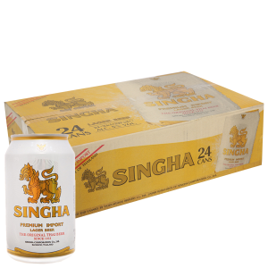 Thùng 24 lon bia Singha 330ml