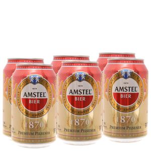 6 lon Bia Amstel 330ml