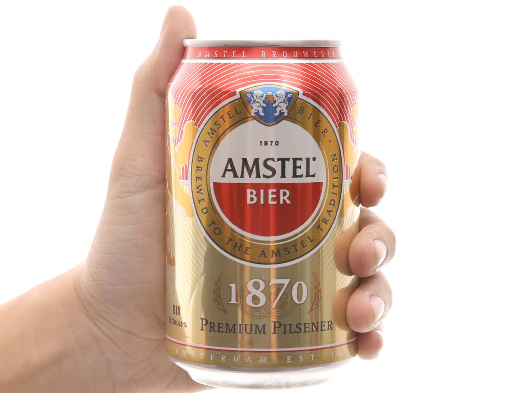 6 lon Bia Amstel 330ml 5