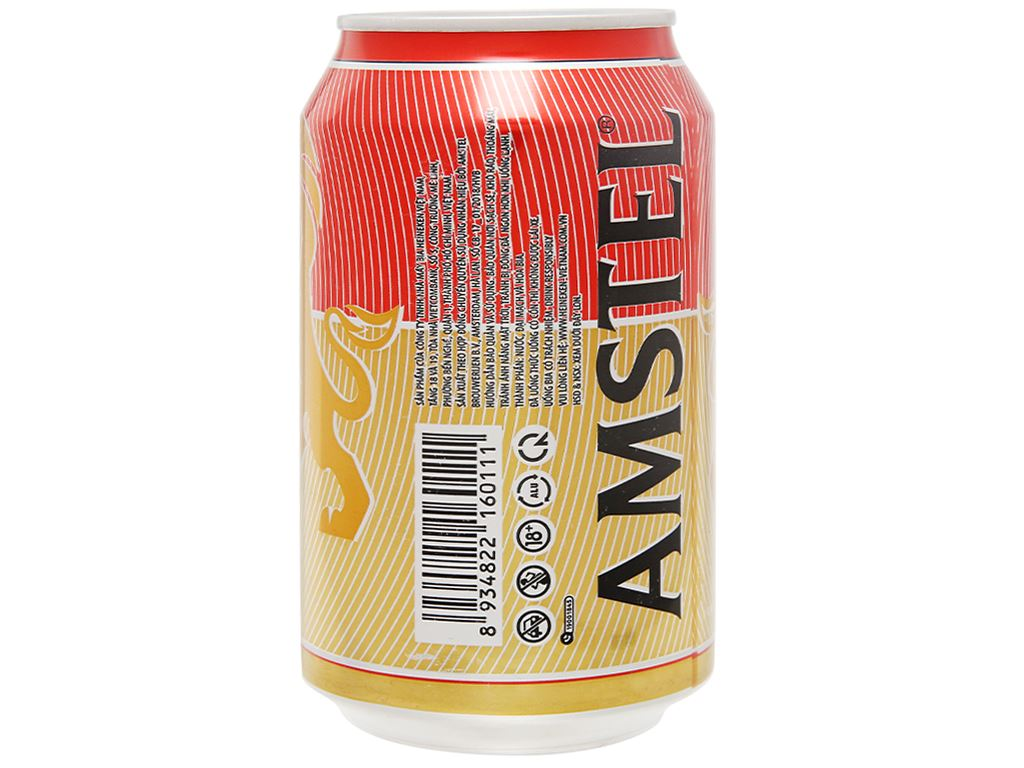 6 lon bia Amstel 330ml 3
