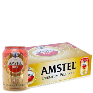 Thùng 24 lon bia Amstel 330ml