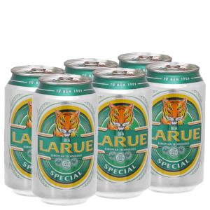 6 lon bia Larue Special 330ml