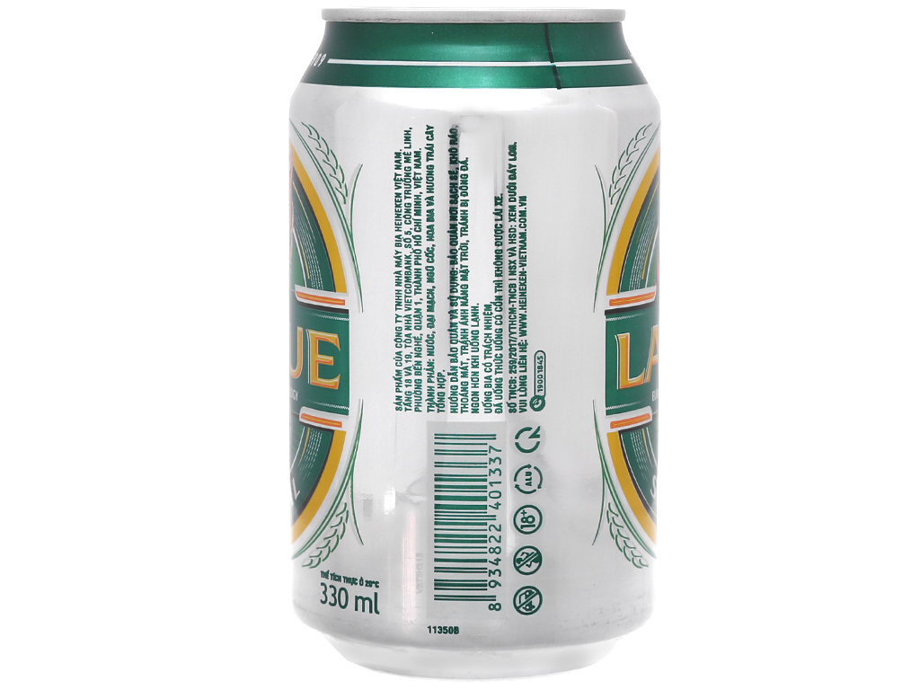 6 lon bia Larue Special 330ml 3