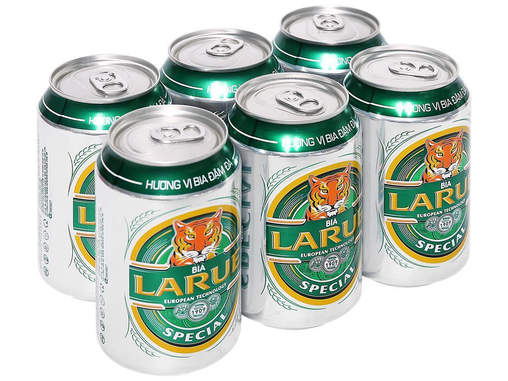 6 lon bia Larue Special 330ml 1