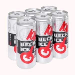 6 lon bia Beck's Ice 330ml