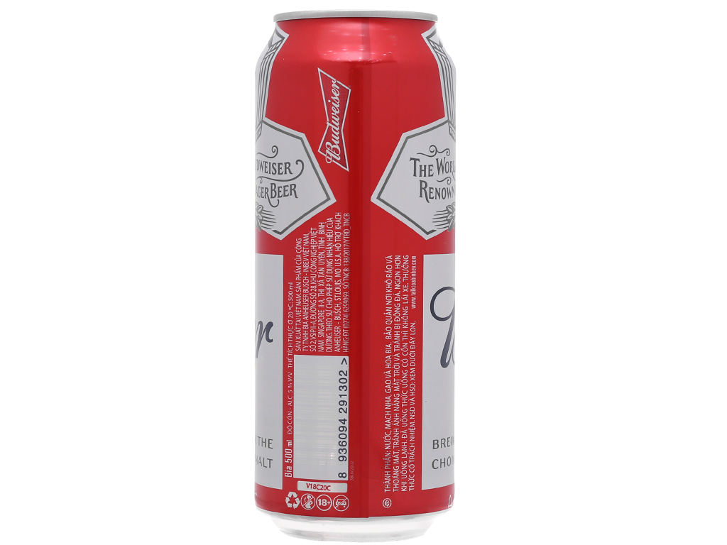 6 lon bia Budweiser 500ml 3
